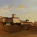 Jean-Baptiste-Camille Corot - View of Pincio Italy