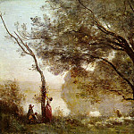 Jean-Baptiste-Camille Corot - Souvenir of Mortefontaine, 1864, Louvre