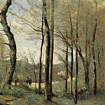 Jean-Baptiste-Camille Corot - First Leaves near Nantes