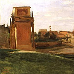 Jean-Baptiste-Camille Corot - The Arch of Constantine and the Forum, Rome, 1843, 27x