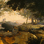 Jean-Baptiste-Camille Corot - Forest of Fontainebleau, c. 1830, Detalj 3, NG Washing