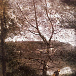 Jean-Baptiste-Camille Corot - Ville dAvray, detail, exhibited 1870, oil on canvas,
