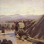 Jean-Baptiste-Camille Corot - The Augustan Bridge at Narni detail