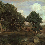 Jean-Baptiste-Camille Corot - FOREST OF FONTAINEBLEAU, 1846, OIL ON CANVAS