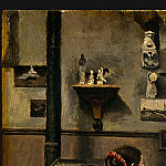 Jean-Baptiste-Camille Corot - The Artists Studio, c. 1855-1860, Detalj 1, NG Washin
