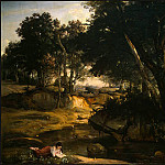 Жан-Батист-Камиль Коро - Corot Forest of Fontainebleau, c. 1830, NG Washington