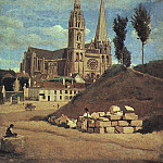 Jean-Baptiste-Camille Corot - CHARTRES CATHEDRAL, 1830 (RETOUCHED 1872)