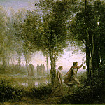 Jean-Baptiste-Camille Corot - Orpheus Leading Eurydice from the Underworld 1861 112.