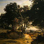 Jean-Baptiste-Camille Corot - Forest of Fontainebleau, c. 1830, Detalj 1, NG Washing