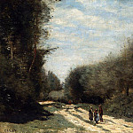 Jean-Baptiste-Camille Corot - Crecy en Brie Road in the Country