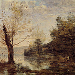 Jean-Baptiste-Camille Corot - Cowherd by the Water