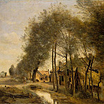 Jean-Baptiste-Camille Corot - The Sin-le-Noble Road near Douai, 1873, Louvre