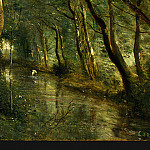 Jean-Baptiste-Camille Corot - The Eel Gatherers, c. 1860-1865, Detalj 4, NG Washingt