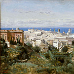 Jean-Baptiste-Camille Corot - View of Genoa from the Promenade of Acqua Sola