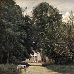 Jean-Baptiste-Camille Corot - The Entrance to M. Dubuisson's Villa at Brunoy
