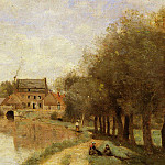 Jean-Baptiste-Camille Corot - Arleux du Nord the Drocourt Mill on the Sensee