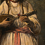 Jean-Baptiste-Camille Corot - Gypsy Girl with Mandolin, probably c. 1870-1875, Det(2