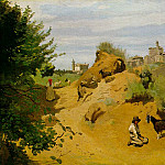 Jean-Baptiste-Camille Corot - The goat herd of Genzano, 1843, The Phillips Collectio