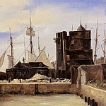 Jean-Baptiste-Camille Corot - Honfleur The Old Wharf