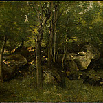 Jean-Baptiste-Camille Corot - Rocks in the Forest of Fontainebleau, 1860-1865