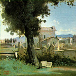 Jean-Baptiste-Camille Corot - View from the Farnese gardens, Rome, 1826, 25.1x40.6 c