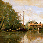 Jean-Baptiste-Camille Corot - Camille River landscape in Holland
