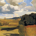 Jean-Baptiste-Camille Corot - The Roman Campaagna with the Claudian Aqueduct