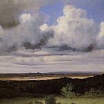 Jean-Baptiste-Camille Corot - Fontainebleau Storm over the Plains