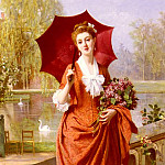 Joseph Caraud - The Red Parasol