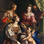 Madonna and Child with Saints Joseph, Catherine, and Agnes