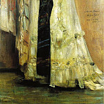 Lovis Corinth - Portrait of Charlotte Berend in a White Dress