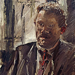 Lovis Corinth - Portrait of Max Halbe