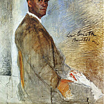 Lovis Corinth - Portrait of Franz Heinrich Corinth unfinished