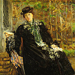 Lovis Corinth - In a Black Coat