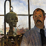 Lovis Corinth - Self Portrait with Skeleton