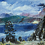 Max Slevogt - Walchensee with Larch Tree