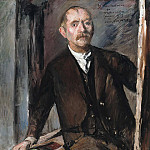 Walter Gramatte - Self-portrait in front of the easel