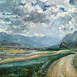 Lovis Corinth - Landscape with views of the valley