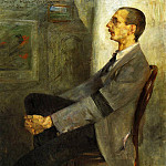 Lovis Corinth - Portrait of the Painter Walter Leistilow