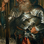 Lovis Corinth - Old man in knights armour