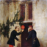 Wilhelm Leibl - Meeting of the Crown Prince Frederick with Napoleon III