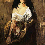 William Merritt Chase - Woman with a Basket