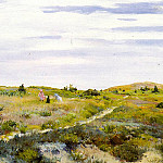 William Merritt Chase - Along the Path at Shinnecock