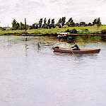 William Merritt Chase - Pulling for Shore