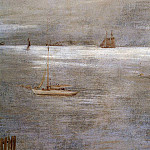 William Merritt Chase - Sailboat at Anchor