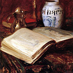 William Merritt Chase - The Old Book
