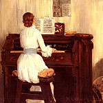 William Merritt Chase - Mrs Meigs At The Piano Organ