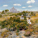 William Merritt Chase - The Bayberry Bush aka Chase Homestead Shinnecock