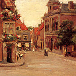 William Merritt Chase - The Red Roofs of Haarlem aka A Street in Holland