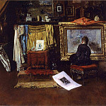 William Merritt Chase - The Inner Studio Tenth Street